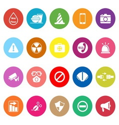 General useful flat icons on white background vector image