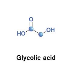 glycolic alpha hydroxy acid vector image