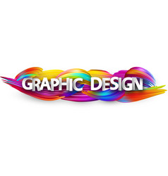 graphic design paper banner with colorful brush vector image