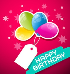 Happy Birthday Pink Background with Colorful vector
