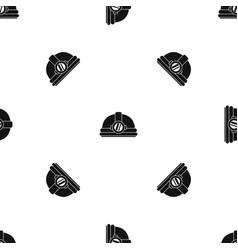 helmet with light pattern seamless black vector image