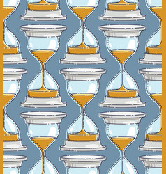 Hourglasses seamless background backdrop for vector