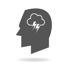 human mind concept graphic vector image