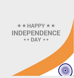 India independence day typographic design vector