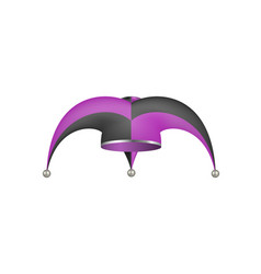 Jester hat in black and purple design vector