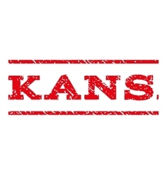 Kansas Watermark Stamp vector image