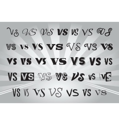 letters V and S with a different style of writing vector image vector image