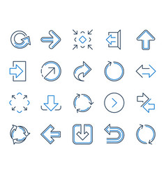 linear arrow icons download synchronize vector image