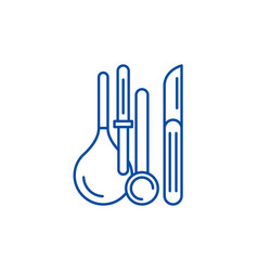 medical instruments line icon concept medical vector image