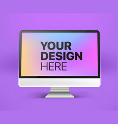 Modern computer with abstract background place vector