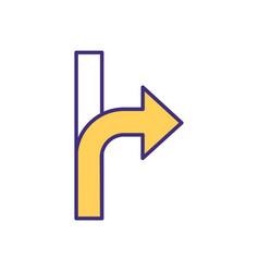 navigation device rgb color icon vector image