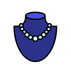 necklace icon filled style editable outline vector image