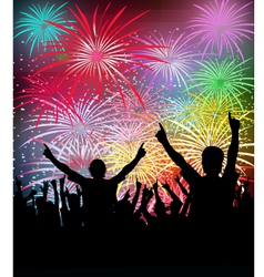 NewYears Party Fireworks vector