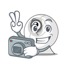 photographer webcam is isolated with the cartoons vector image