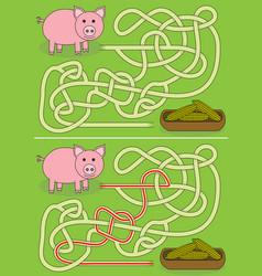 Pig maze vector