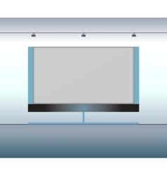 Presentation advertising board vector