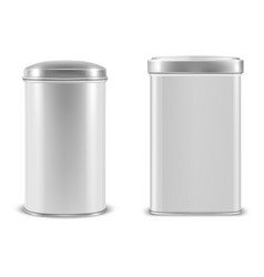 Realistic 3d white blank metal aluminium vector