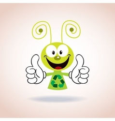 Recycle mascot cartoon character vector