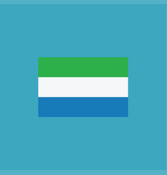 sierra leone flag icon in flat design vector image