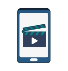 Smartphone movie and big data design vector