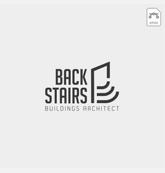 stairs architectur logo template icon element vector image