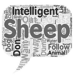 The Problem With Sheep text background wordcloud vector