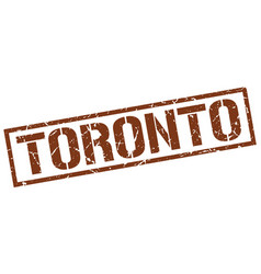 Toronto brown square stamp vector