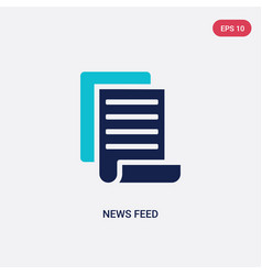 Two color news feed icon from general concept vector