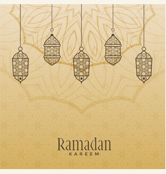 Vintage style ramadan kareem background vector