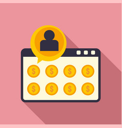 web page crowdfunding icon flat style vector image