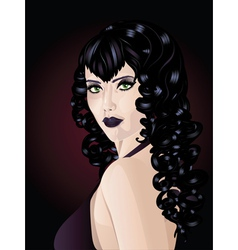 Witch with Black Hair vector