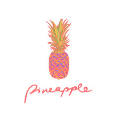 with pineapple vector image