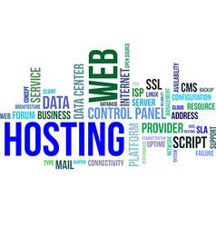 word cloud web hosting vector image