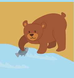 cartoon bear character teddy pose vector image vector image