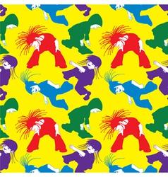 dancing children vector image vector image