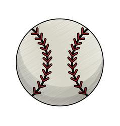 drawing baseball ball equipment vector image