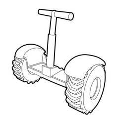 eco segway icon outline style vector image vector image