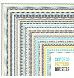Hand Drawn Pattern Brushes Set vector image