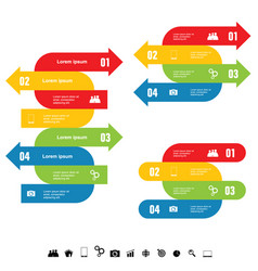 Infographic set with arrow color vector