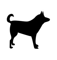 silhouette of dog dog sign vector image