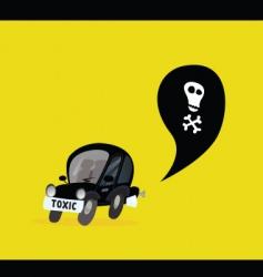 car pollution vector image vector image