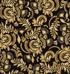 Floral seamless pattern decorative style Hohloma vector image