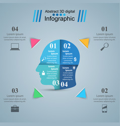 head icon business infographics vector image vector image