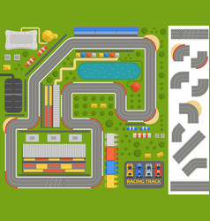 Race track curve road vector
