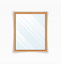 realistic mirrors decoration mirror with vector image vector image