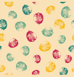 abstract pattern with leaves on bright background vector image