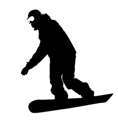 Black silhouettes snowboarders on white vector image vector image