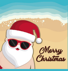 christmas vacations design vector image vector image
