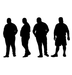 fat men vector image