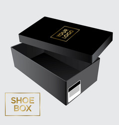 mock up open box with lid vector image